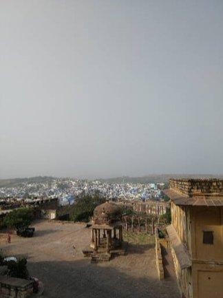 Vista di Jodhpur dal Mehrangarh Fort.