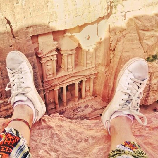 Petra, vista del Tesoro dall'alto.